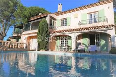 Beautiful Villa for sale Sainte Maxime Cote d'Azur Beautiful Villas, Garden Pool, French Riviera, Pool Houses, Ground Floor, Terrace, Entrance, Mansions, House Styles