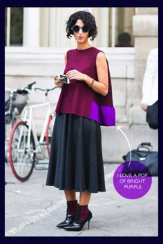 Jasmin Sewell looking glamourously cool! Skirts skirts skirts! http://thoselondonchicks.com/go-with-the-flow-skirts/