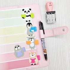 Image of Stationery : Nerdy Animals Adhesive Bookmark