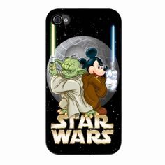 Star Wars Mickey And Yoda iPhone 4/4s Case