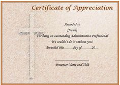 Pastor Appreciation Day Certificate  Pastor Appreciation