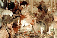 Marie Antoinette with Kirsten Dunst by Sofia Coppola, dress design Milena Canonero - Gambling scene Sofia Coppola, Young Wild Free, Kirsten Dunst, Marie Antoinette Film, Divas, Luis Xvi, Rococo Fashion, 18th Century Fashion, Marquise