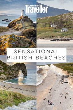 36 of the best beaches in the UK, from secret coves in Cornwall to sensational stretches of sand in Scotland. Best Beaches In England, Best Uk Beaches, British Beaches, Best Uk Holiday Destinations, Holiday Places, Top Destinations, Poland Travel, Spain Travel, Best Uk Holidays