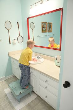 I Like The Idea Of A Red Mirror For Kids Bath Not Screaming KID But Still Fun
