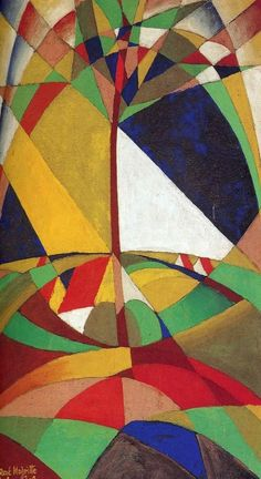 Landscape  :  Rene Magritte  :  circa 1920  [cubism] #Cubism