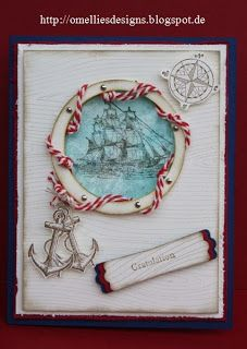 Omellie's Designs , Cards , Open Sea , Stampin Up , Woodgrain