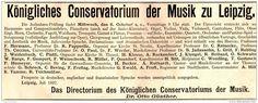Original-Werbung/ Anzeige 1897 - KÖNIGLICHES CONSERVATORIUM DER MUSIK ZU LEIPZIG / DR. GÜNTHER - ca. 190 x 75 mm