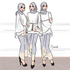Happy sunday everyone Siapa pernah jadi bridesmaids? *angkat tangan! Colour ape tema warna korang? . . #namirahsketches #fashionillustration