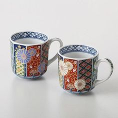 Imariyaki Mug Cup (2-cup set)