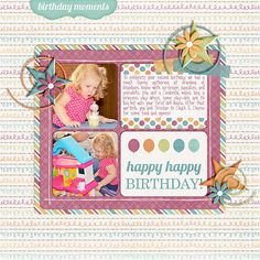 Birthday Scrapbook Page Ideas | Simple Scrapbook Ideas | M&M Birthday Bundle