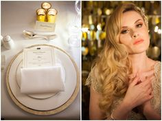 Elegant Black and Gold Wedding Inspiration-hair style
