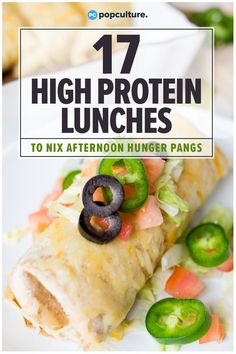 17 High-Protein Lunches To Nix Your Afternoon Hunger Pangs 17 High. - 17 High-Protein Lunches To Nix Your Afternoon Hunger Pangs 17 High-Protein Lunches Th - High Protein Lunch Ideas, High Protein Meal Prep, Low Carb Lunch, High Protein Recipes, Protein Desserts, Protein Cake, Protein Muffins, Protein Cookies, Protein Foods