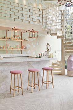 Open Kitchen Interior Design Ideas enough Kitchen Interior Design Jobs order Mod Modern Outdoor Kitchen, Outdoor Kitchen Bars, Interior Design Jobs, Bar Interior, Color Interior, Interior Sketch, Open Kitchen Interior, Interior Dorado, Rose Gold Interior