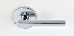 PASSAGE SETS Mediterranean levers  Domici  Finishes: Satin chrome, Polished chrome. Polished Chrome, Door Handles, Satin, Home Decor, Homemade Home Decor, Elastic Satin, Door Knobs, Interior Design, Home Interiors