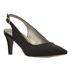 f86fac889a5 Sidney Slingback. Black Patent HeelsPointed ...