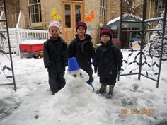 Nursery pupils build a snowman Rendcomb College Boarding Schools, Build A Snowman, Winter Snow, Nursery, College, Day Care, University, Make A Snowman, Baby Room