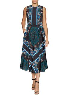 Paisley Fit And Flare Dress by Maia at Gilt