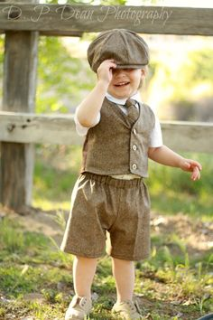 Ring bearer outfit baby suit tweed baby ring door fourtinycousins, $99.00