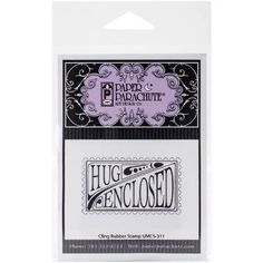 """Paper Parachute Cling Rubber Stamps, 3.5"""" x 4.5"""" Sheet, Hug Enclosed"""