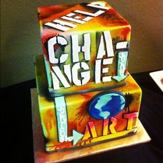 Art Benefit Graffiti Cake