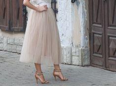 Бежевая коричневая юбка пачка_юбка для от MyStylishFantasy на Etsy