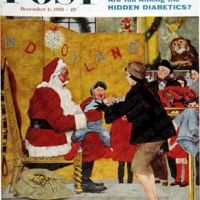 Crying on Santa's Lap by George Hughes, December 6, 1958
