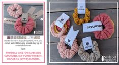 Free Knit & Crochet Scrunchies Patterns – Savlabot Free Kni… - How To Make Scrunchies 2020 Crochet Hair Accessories, Crochet Hair Styles, Free Knitting, Knitting Patterns, Crochet Patterns, Knitting Socks, Ravelry, Knitted Teddy Bear, Easy Knitting Projects