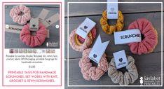 Free Knit & Crochet Scrunchies Patterns – Savlabot Free Kni… - How To Make Scrunchies 2020 Crochet Hair Accessories, Crochet Hair Styles, Free Knitting, Knitting Patterns, Crochet Patterns, Knitting Socks, Ravelry, Handgestrickte Pullover, Easy Knitting Projects