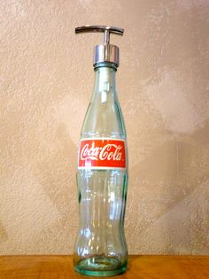 Coca-Cola Liquid Soap Dispenser Coke Lotion Dispenser Hand Sanitizer Recycled Upcycled Repurposed Bottle on Etsy, $15.00