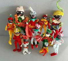 Sinterklaas, decoraties voor op een pakje.