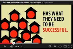 """Top 10 Videos on 21st Century Learning ~  Edutopia has curated a great list of short videos that are definitely worth watching.  Be sure to check out """"Learning to Change - Changing to Learn."""" (3 to 6 minutes each)"""