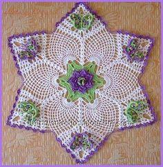 flower & butterfly star doily