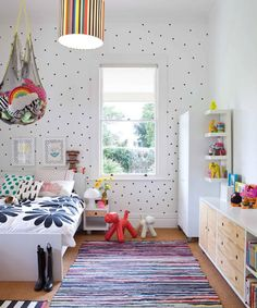 17 Cool + Colorful Ways to Organize Your Kids' Room via Brit + Co.
