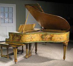 A gorgeous antique piano
