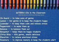 Back to school oils