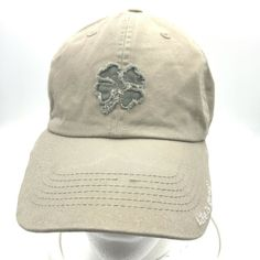3b6b70dc Distressed Life is Good Shamrock Beige Hat Cap Baseball Style Adsjutable  #LifeisGood #BaseballCap #