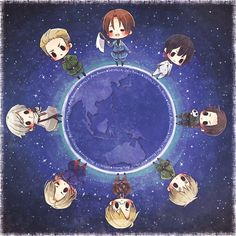 Draw a circle, that's the Earth! <<< Did you mean, 'MARUKAITE CHIKYUU BEYOTCH!!'?