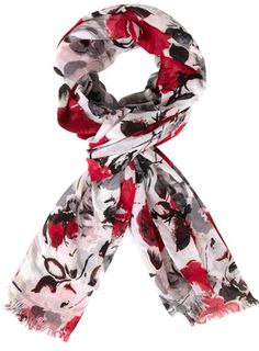 Pink sketchy floral scarf - View All Accessories  - Accessories