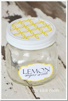 DIY foot/hand scrub. I also would put some fresh lemon zest in for a pop of color-