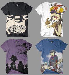 Gorillaz shirts