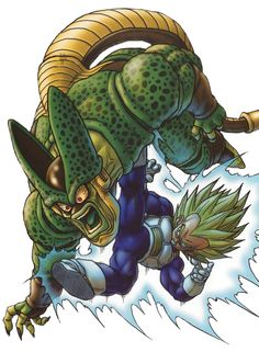 DBZ Vegeta vs Cell