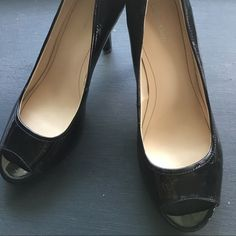 Calvin Klein Black Patent Leather Pumps- 71/2M Beautiful - classic - black patent leather Calvin Klein Pumps size 71/2M. Worn only several times Calvin Klein Shoes Heels