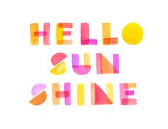 Hello Sunshine - cute project life card