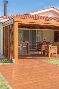 Modern Backyard Design, Terrace Garden Design, Backyard Patio Designs, Pergola Designs, Modern House Design, Outdoor Pergola, Backyard Pergola, Outdoor Decor, House Roof Design