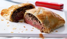 These individual beef Wellingtons are perfect for serving at a dinner party.