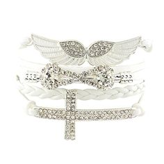 $1.79 / piece New Arrival Elegant Women Friendship Bracelets Full Stone Wings Cross Infinity Wholesale Price-in Charm Bracelets from Jewelry & Accessories on Aliexpress.com | Alibaba Group
