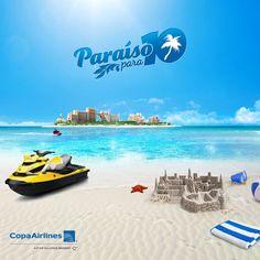 Te invito a viajar conmigo al paraíso. Participa y podrías ganar un viaje para 10 personas con @Copa Airlines a Nassau, Bahamas GRATIS. #ParaisoCopa #Travel #Atlantis