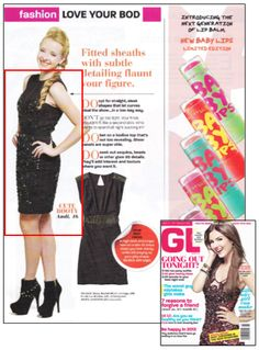 This Rachel Gilbert dress looks festive as ever in the December 2012 issue of Girls' Life Magazine