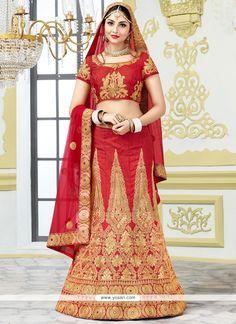 Staring Bhagalpuri Silk Patch Border Work Lehenga Choli Model: YOLEN4001