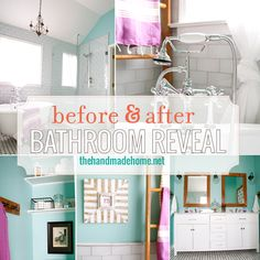 bathroom redo {lemons into lemonade and no more beer cans} - the handmade homethe handmade home Small Space Bathroom, Small Spaces, Bathroom Before After, Bathroom Renovations, Bathroom Ideas, Do It Yourself Home, Handmade Home, Home Hacks, Amazing Bathrooms